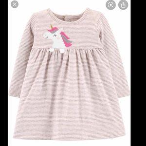 Carter's baby girl unicorn dress